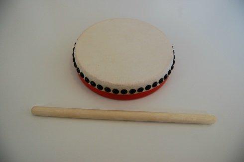 パーランクー 直径18cm バチ付き 水牛皮製 エイサー用 太鼓