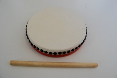 パーランクー 直径21cm バチ付き 水牛皮製 エイサー用 太鼓