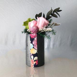 花飾り<br>(ピンク、ちりめん青)<br>