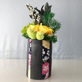 花飾り<br>(黄、ちりめん青)<br>