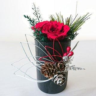 花飾り<br>(赤ばら、水引銀)<br>
