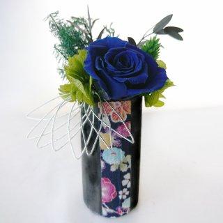 花飾り<br>(青ばら、ちりめん、水引)<br>