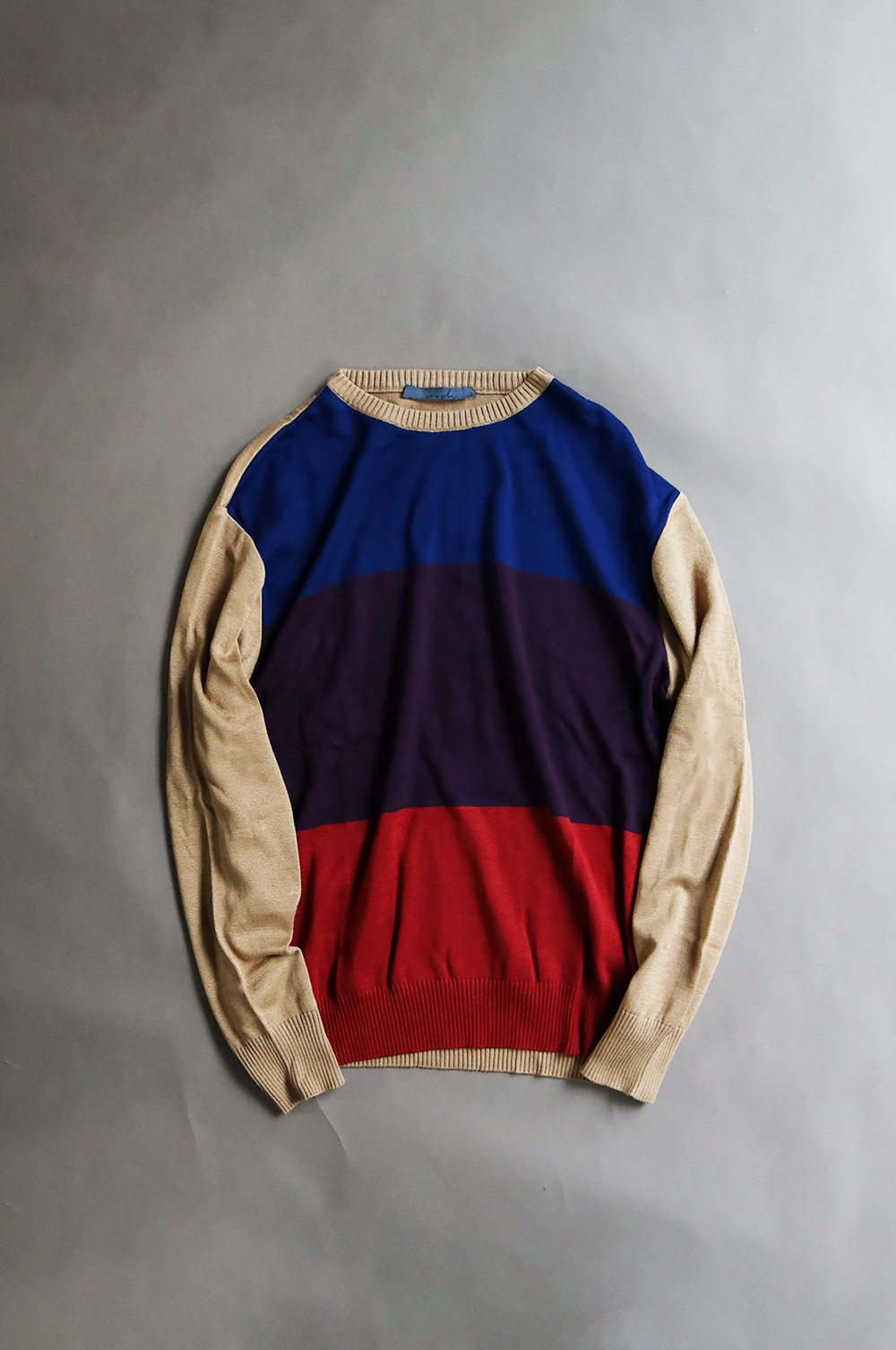 【LIMITED】Pattern line color knit pullover