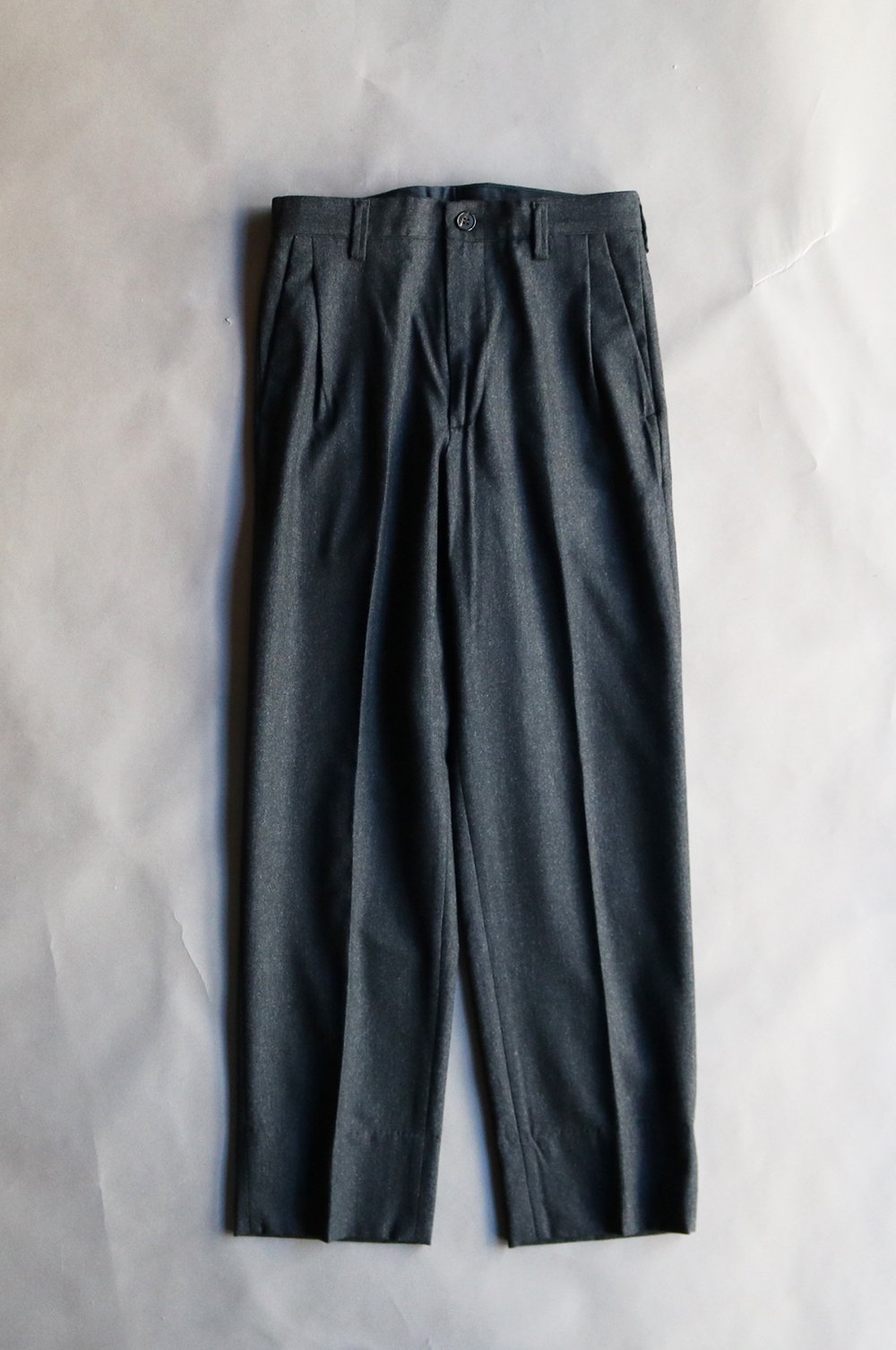 Wool cashmere tapered trouser