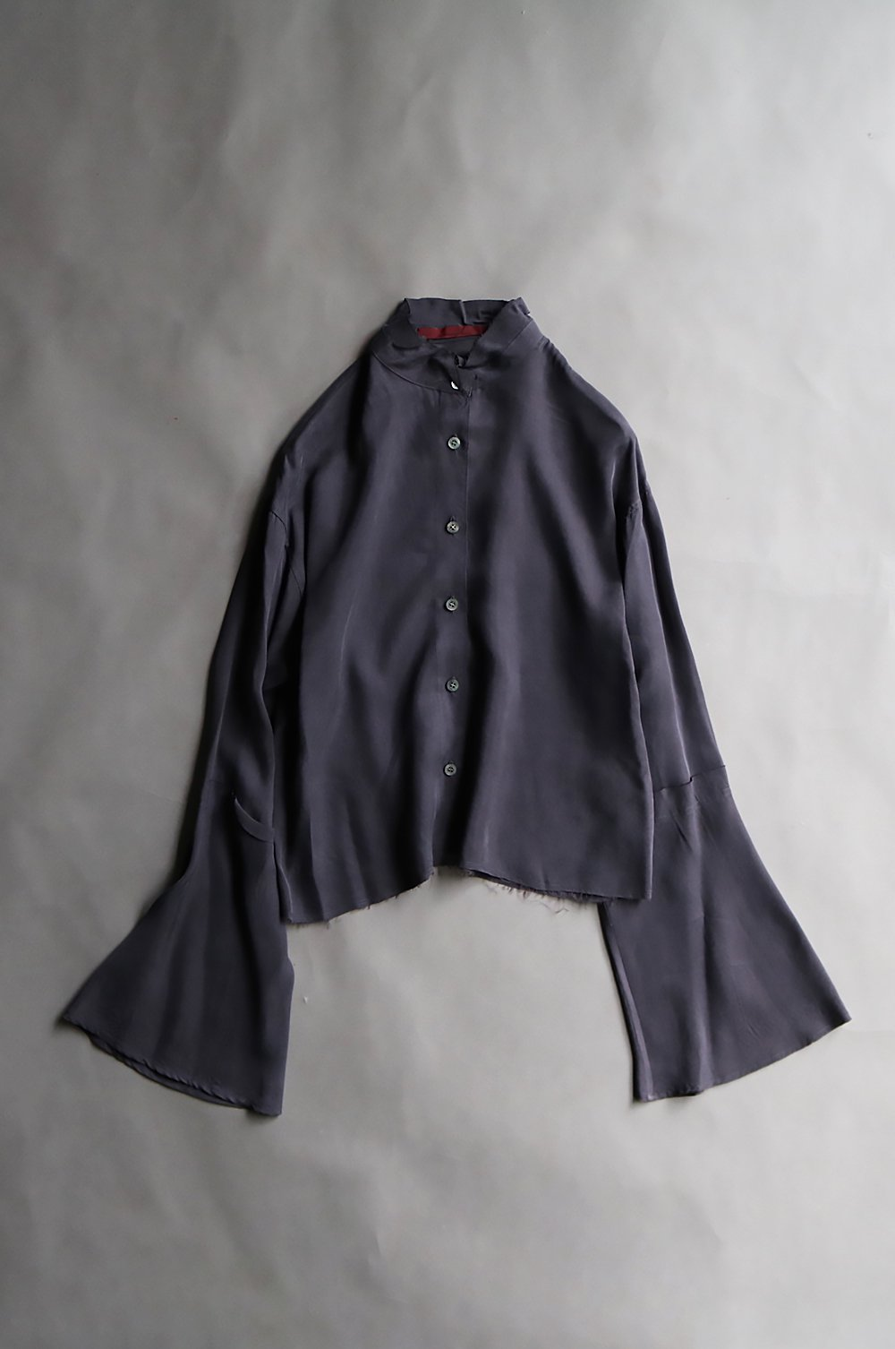 <LIMITED>Cupra Stand Collar Blouse