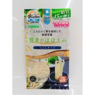 食物繊維1食26.9g配合!こんにゃくと米粉に食物繊維を加えた手打ちうどん風 賢者のほほえみ低糖質(うどんタイプ)【常温便】