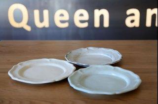 長浜 由起子 白・ブルー・粉引 洋皿