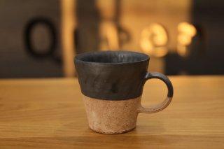 村上躍 黒釉砂化粧マグカップ�