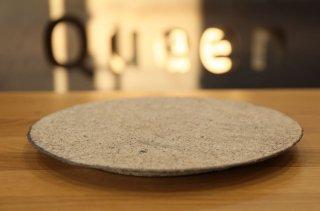 村上躍 白灰化粧丸盤皿