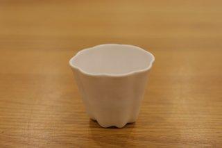 藤村佳澄 茶杯(カヌレ)白