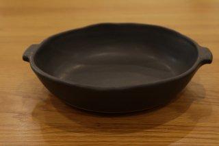 馬場勝文 耐熱グラタン皿(中・黒)