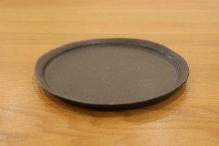 馬場勝文 黒釉リム細5.5寸皿