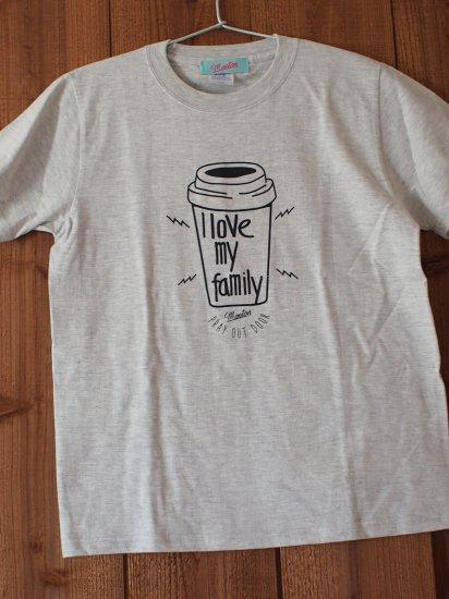 I love family Tシャツ(アダルト)グレー