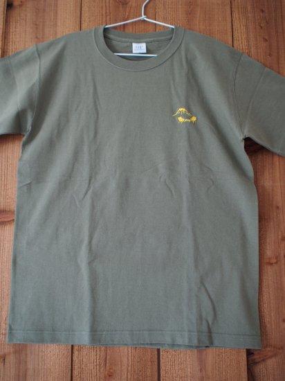 刺繍マウンテンTシャツ オリーブ