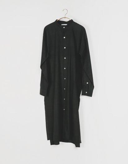 カディ コットンユニセックスロングシャツ オーガニックコットン Black