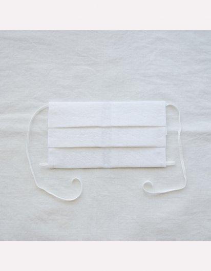 マスクとして使えるハンカチ 粒粒(リネン 白)