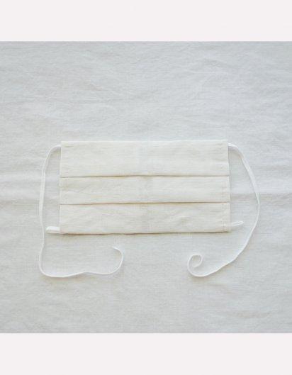 マスクとして使えるハンカチ カットワーク(コットン 白)