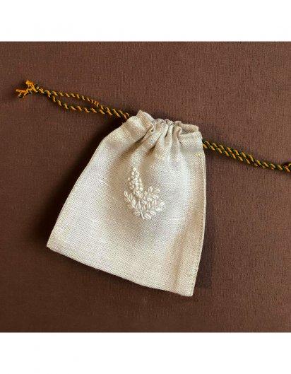 刺繍ミニ巾着 A