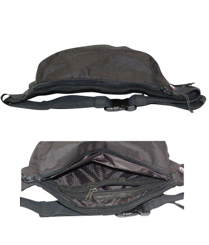 mini black waist bag