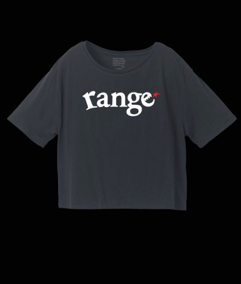 【Ladies】range logo short length s/s tee