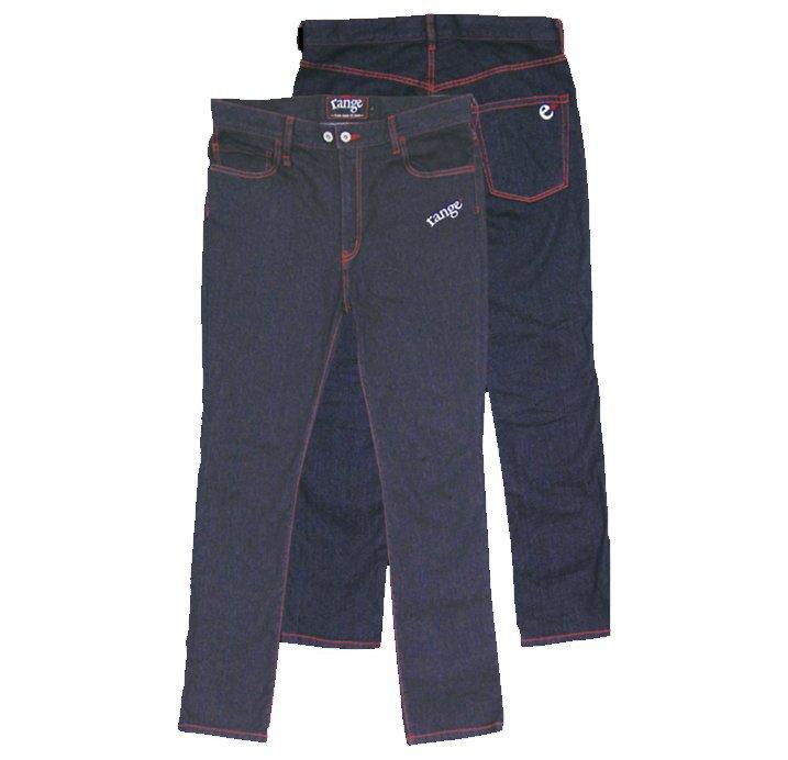 range tapered denim pants