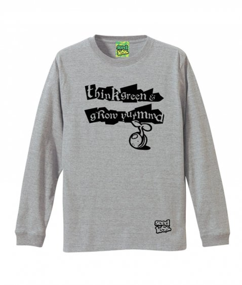 SQUARE TYPING L/S tee