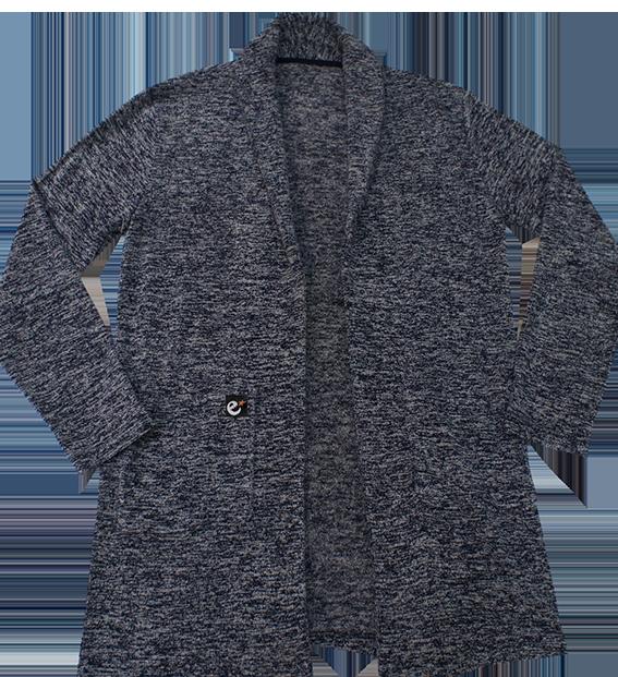 rg soft pile knit shawl collar cardiganの商品イメージ