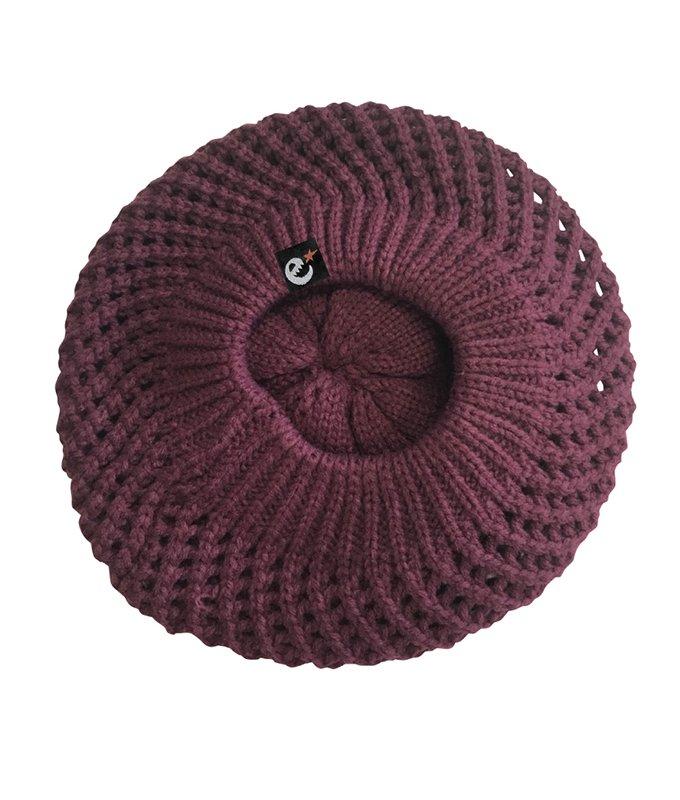 rg New Hattan knit beret hat