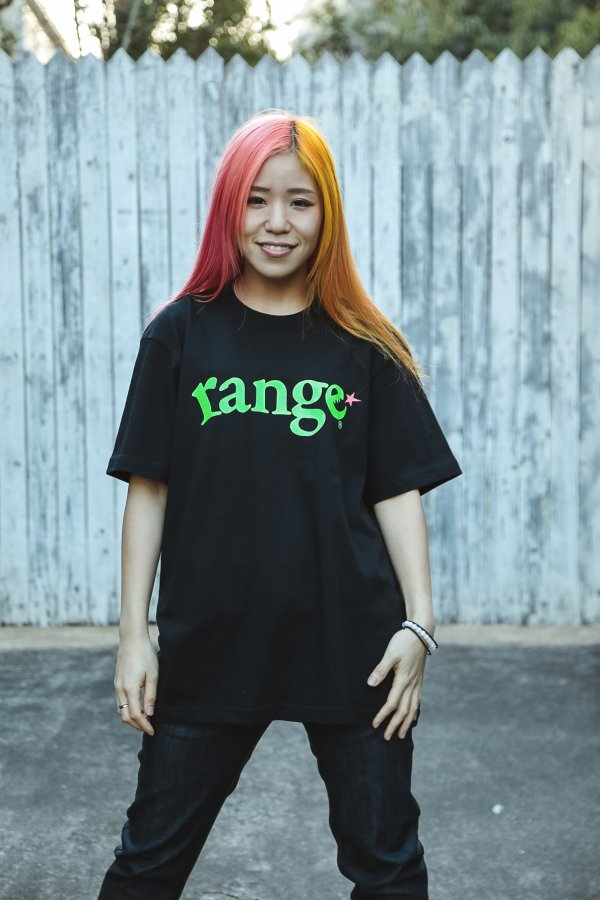 range fluorescence logo s/s tee