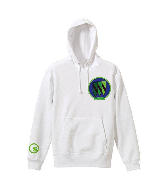 Green gradation crest hoodyの商品イメージ