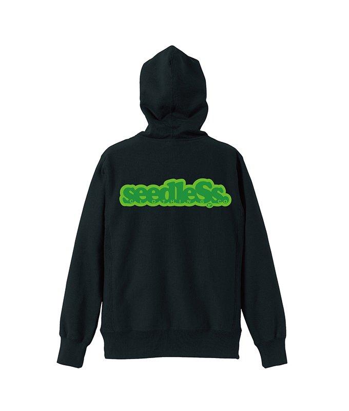 Green gradation crest hoody