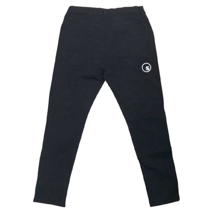 sd stretch skinny black denim pants