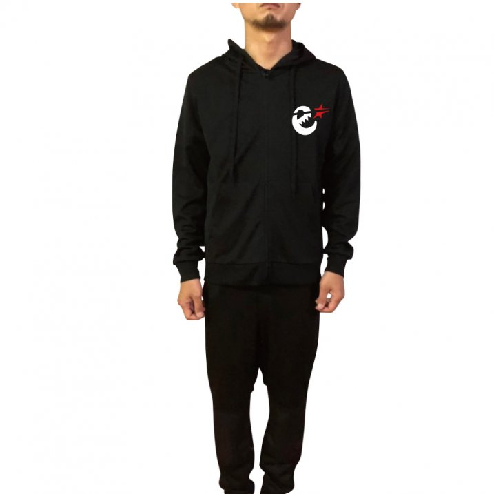 rg set up jersy zip up hoody