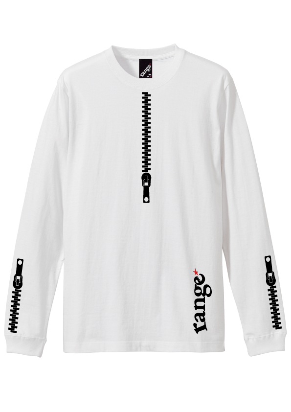 rg back side zipper L/S tee