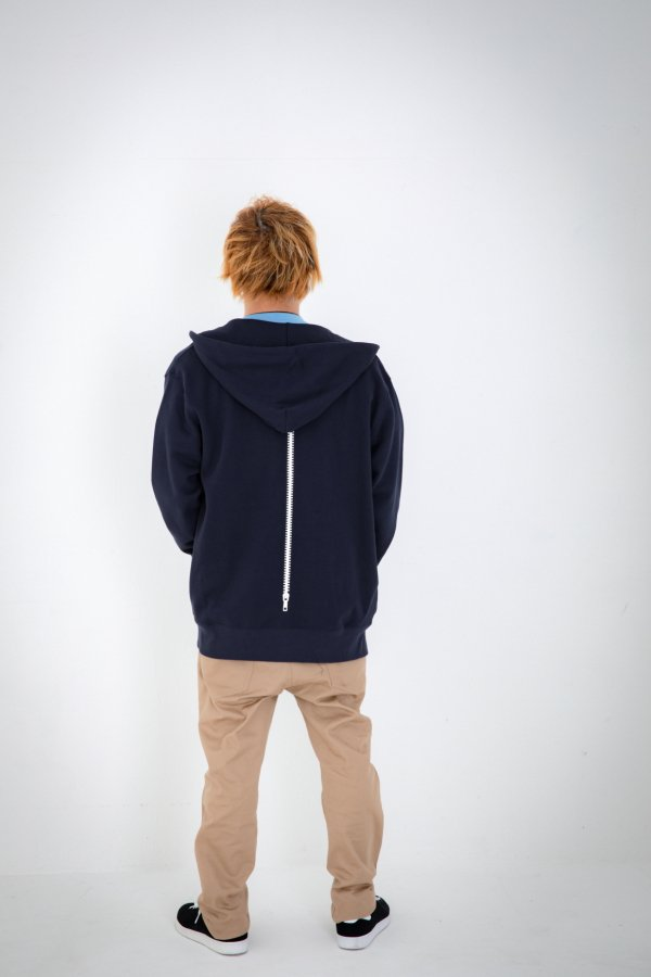 rg back side zipper hoody