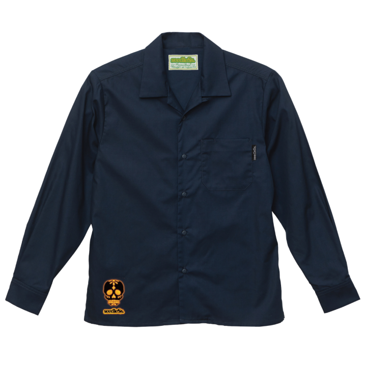 sd T/C open collar L/S shirts