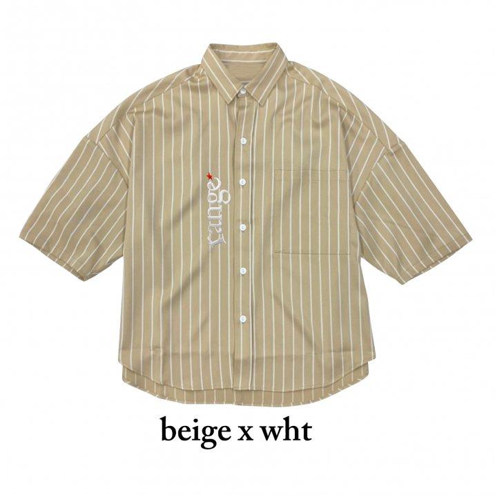 rg stripe over size shirtsの商品イメージ