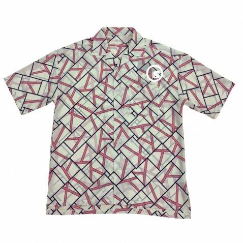 Pattern open collar shirts