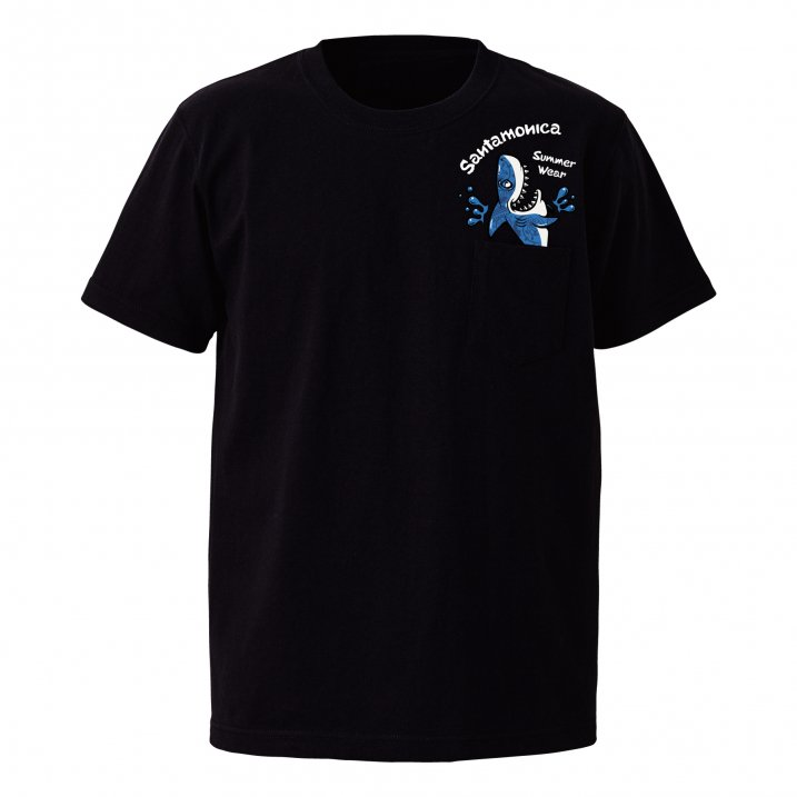 shark out of pocket tee
