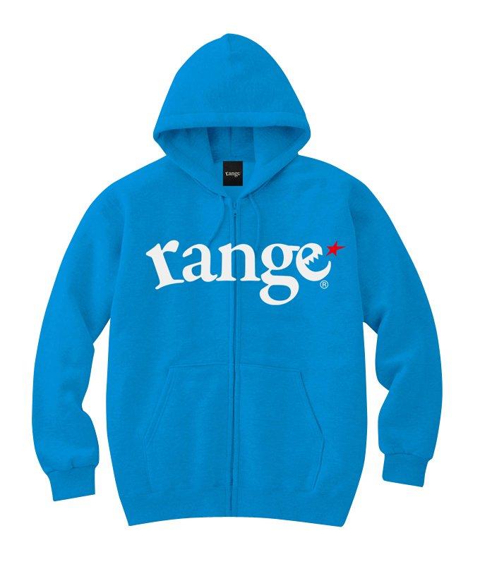 range logo sweat zip hoody colorsの商品イメージ