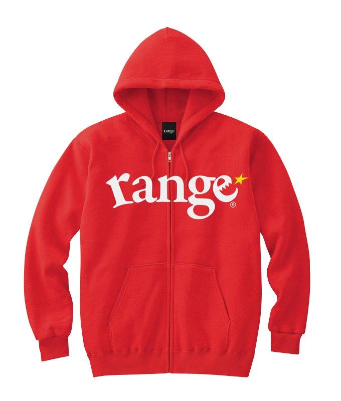 range logo sweat zip hoody colors
