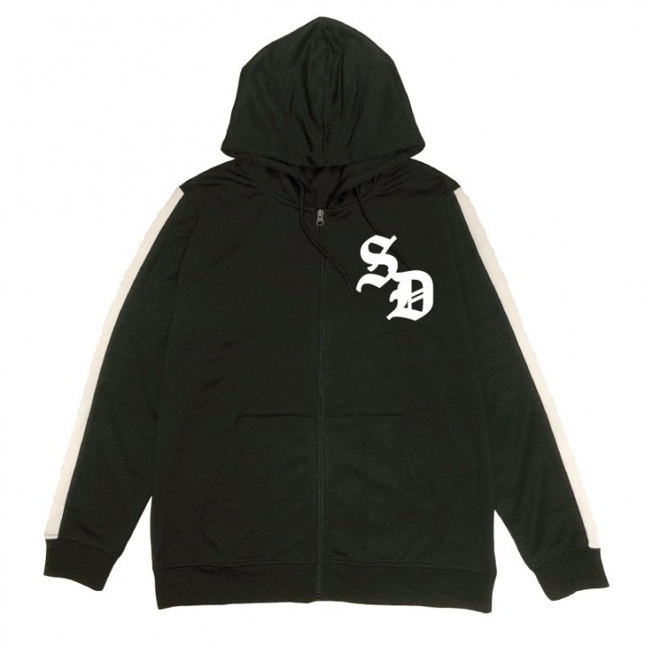 sd stripe slv zip up hoodyの商品イメージ