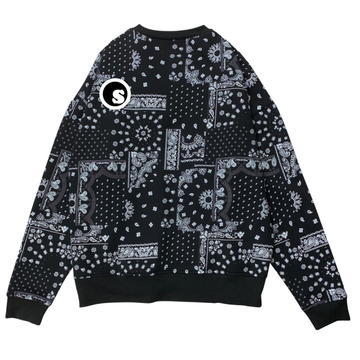 sd paisley all over crew neck
