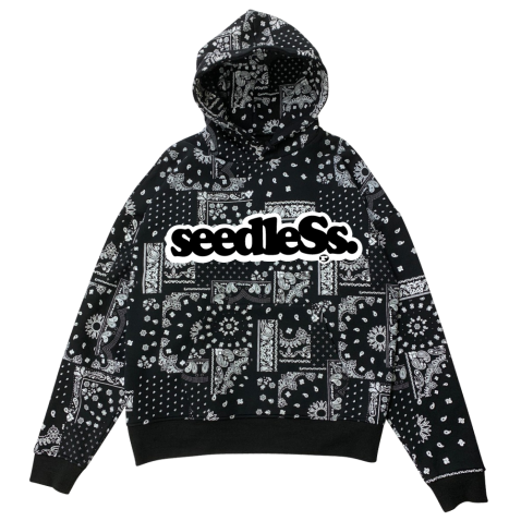 sd paisley all over big size hoody