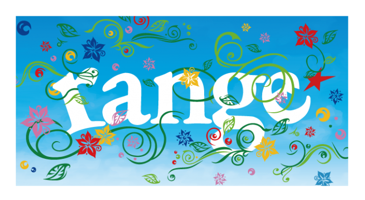 sky flower logo LS tee