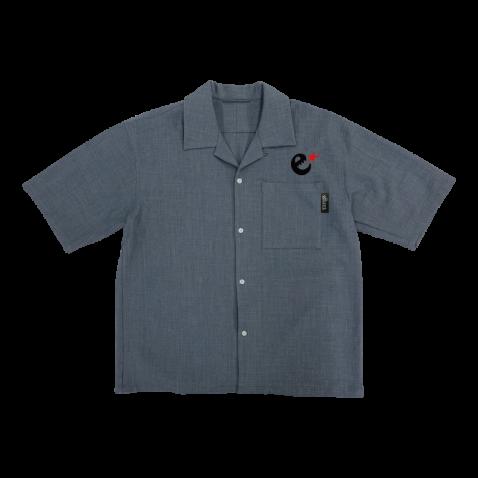 rg poly chambray open collar shirts