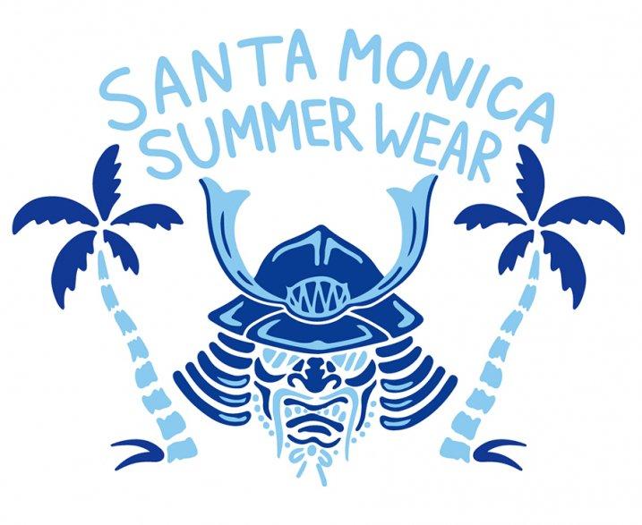 SANTA MONICA SUMMER WEAR X 京都大作戦コラボTシャツ