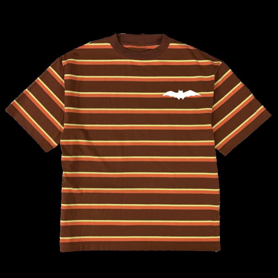 rg stripe combination mock neck Tの商品イメージ