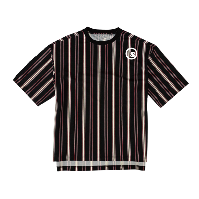 stripe over size crew t shirts