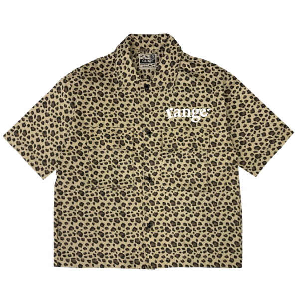 leopard  big pocket open shirts